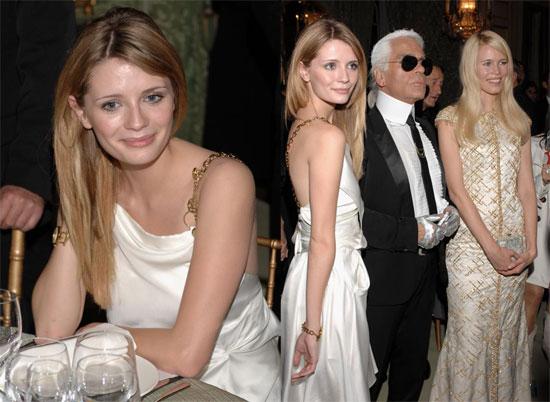 Mischa and Karl Lagerfeld?