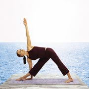 Strike A Yoga Pose:  Triangle Pose