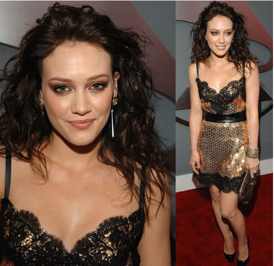 The Grammys Red Carpet: Hilary Duff