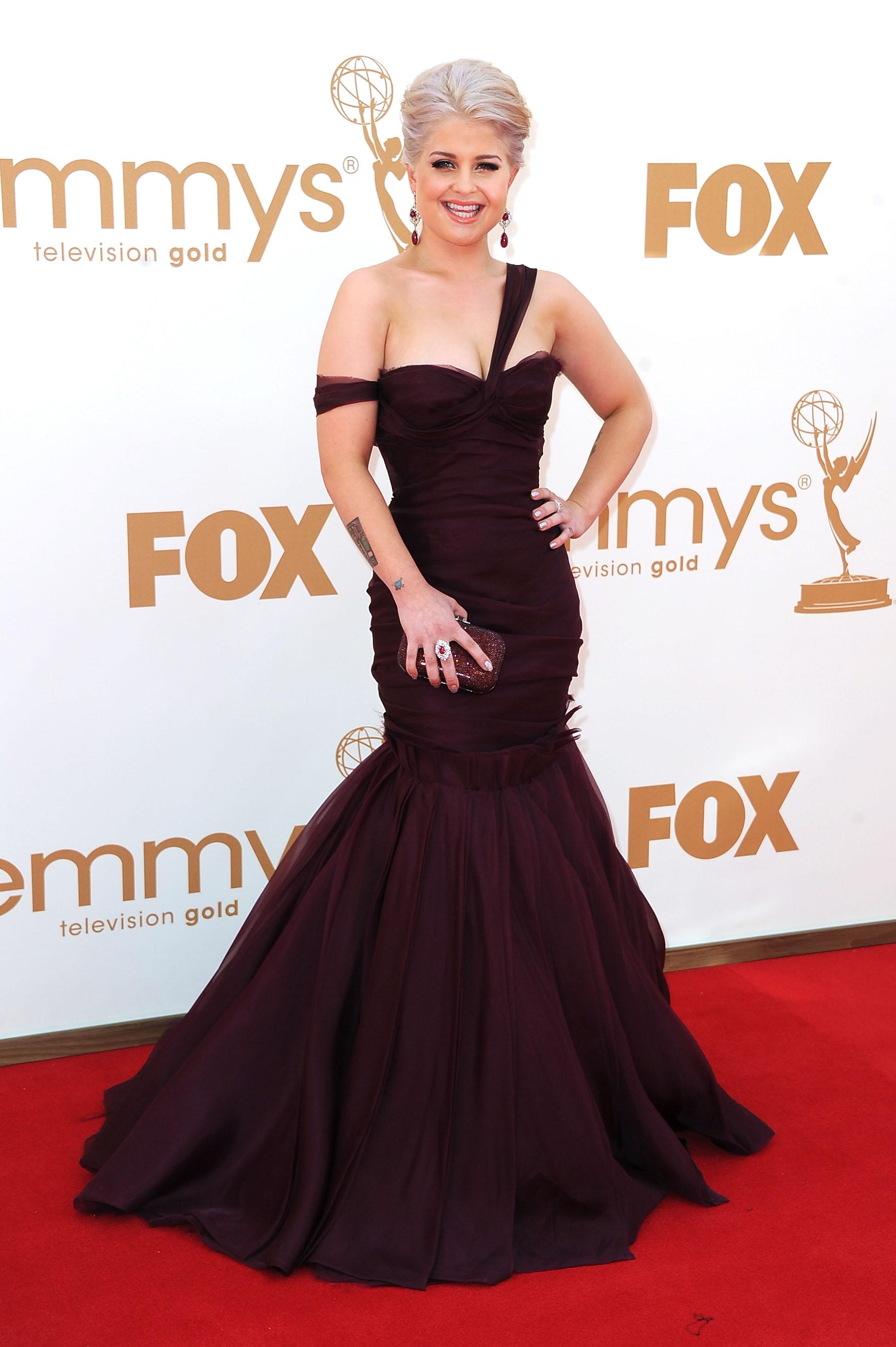 Kelly Osbourne in J. Mendel at the Emmys.