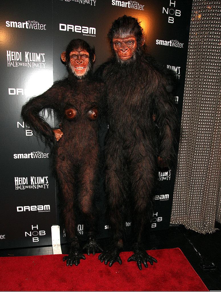 Heidi Klum and Seal as Monkeys