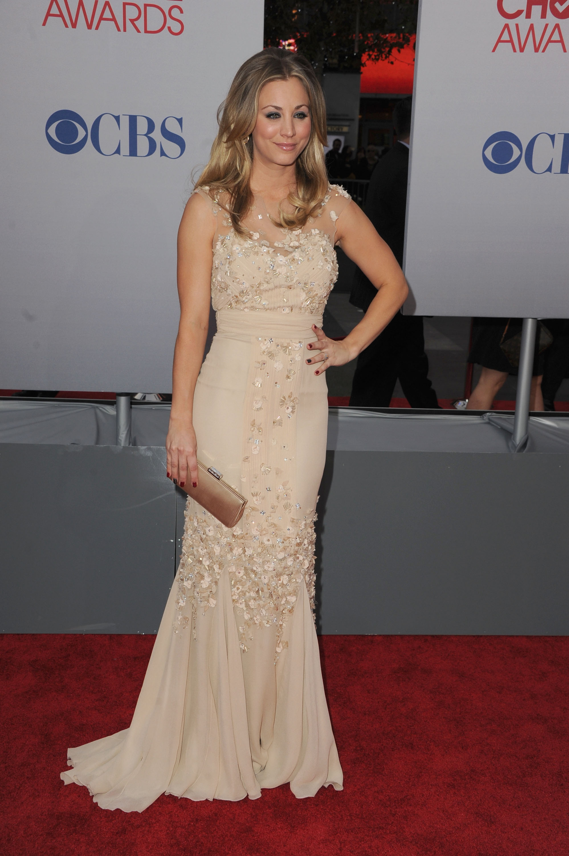 Kaley Cuoco on the red carpet .