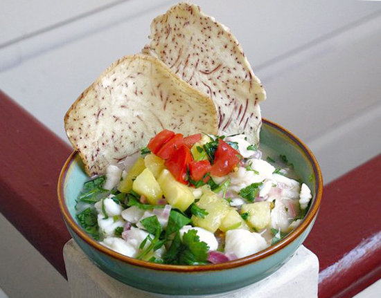 Easy recipe for hawaiian coconut pineapple ceviche for Hawaiian fish recipes