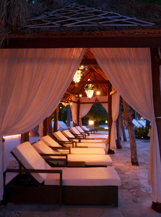 Balinese pool gazebos