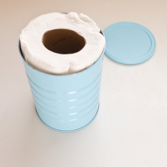 How to make cleaning wipes popsugar smart living to create the cleaning wipes cut the paper towels in half using a sharp serrated knife and squish them into the painted can and using eco friendly paper solutioingenieria Choice Image