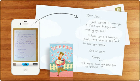 handwritten card apps  popsugar tech, Birthday card
