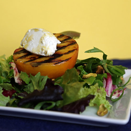 Grilled Peach Salad With Goat Cheese