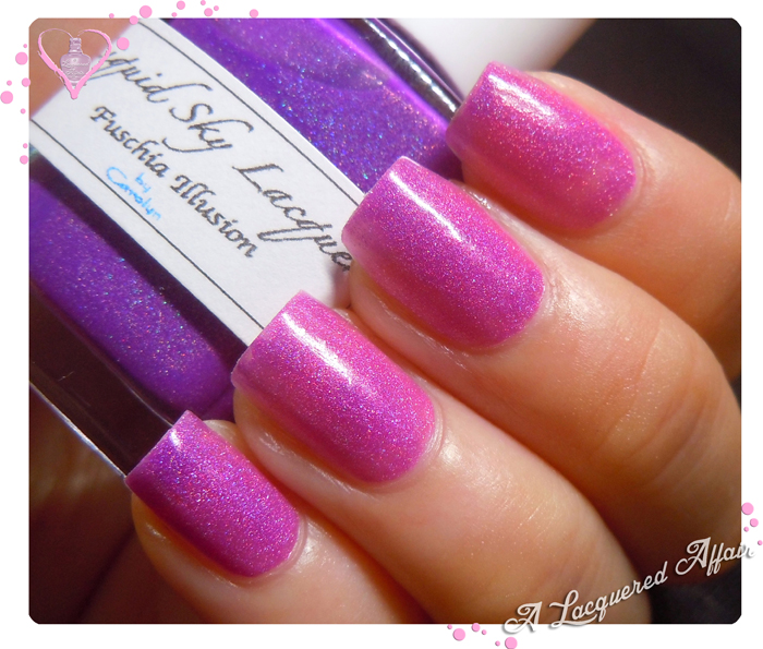 Liquid Sky Lacquer Fuschia Illusion - 1 coat