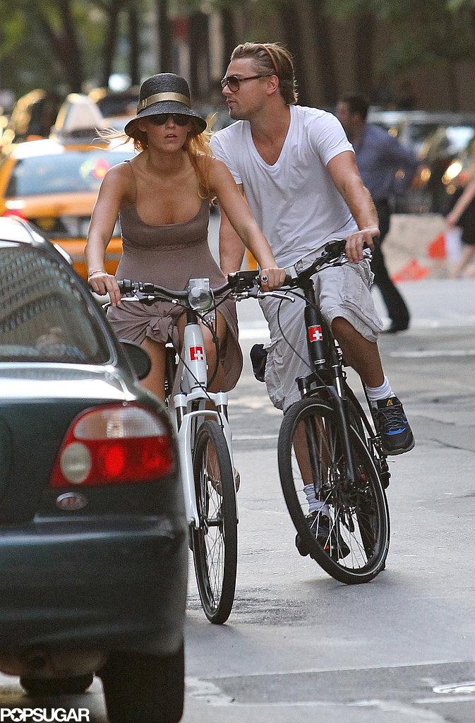 Leonardo Dicaprio Riding Bikes Popsugar Celebrity