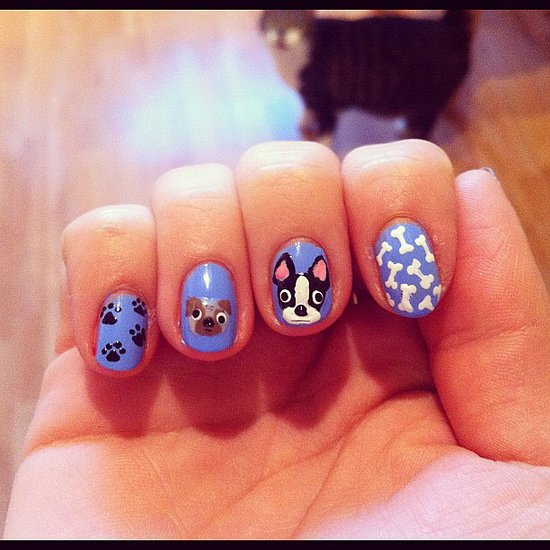 Pug Life - Dog Nail Art Designs POPSUGAR Beauty