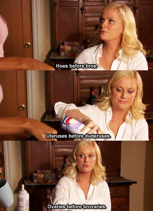Image result for leslie knope uteruses before duderuses gif