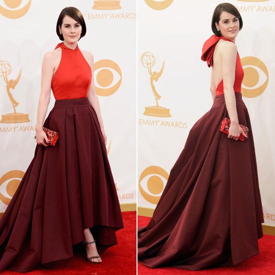prada red dress