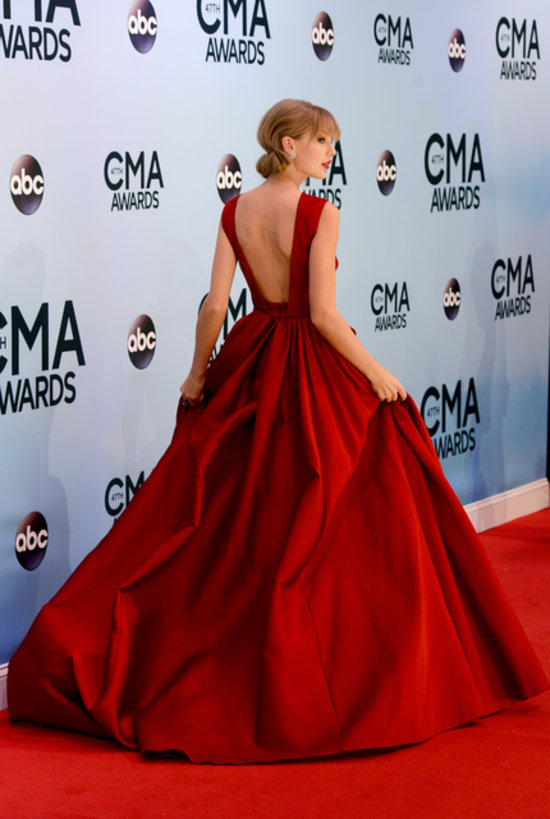 Taylor Swift in Red Dress at CMA Awards | POPSUGAR Fashion
