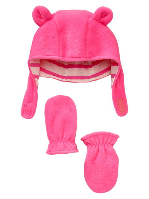 5b0861c0ab2 Gap Pro Fleece Bear Hat and Mitten Set