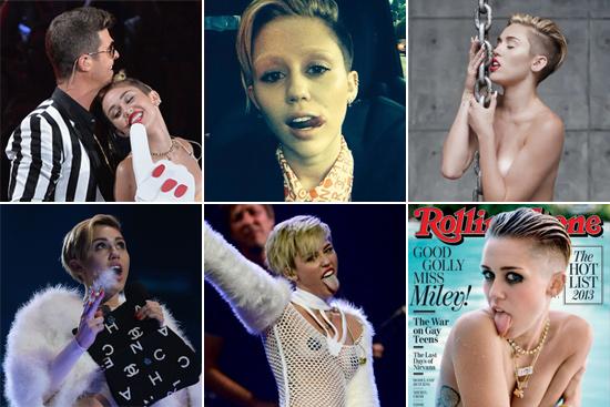 Miley Cyrus's Most Shocking Moments 2013 | POPSUGAR Celebrity
