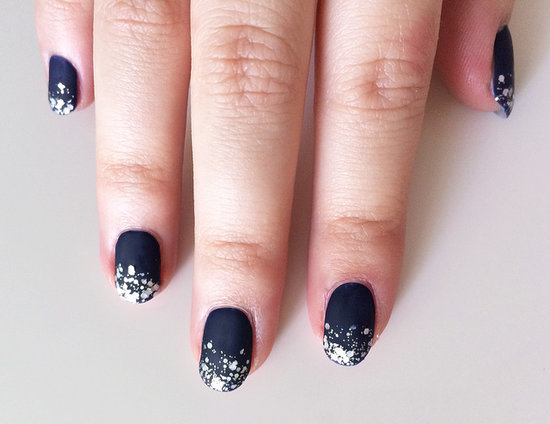 Holiday nail art ideas popsugar beauty navy blue with glitter prinsesfo Images