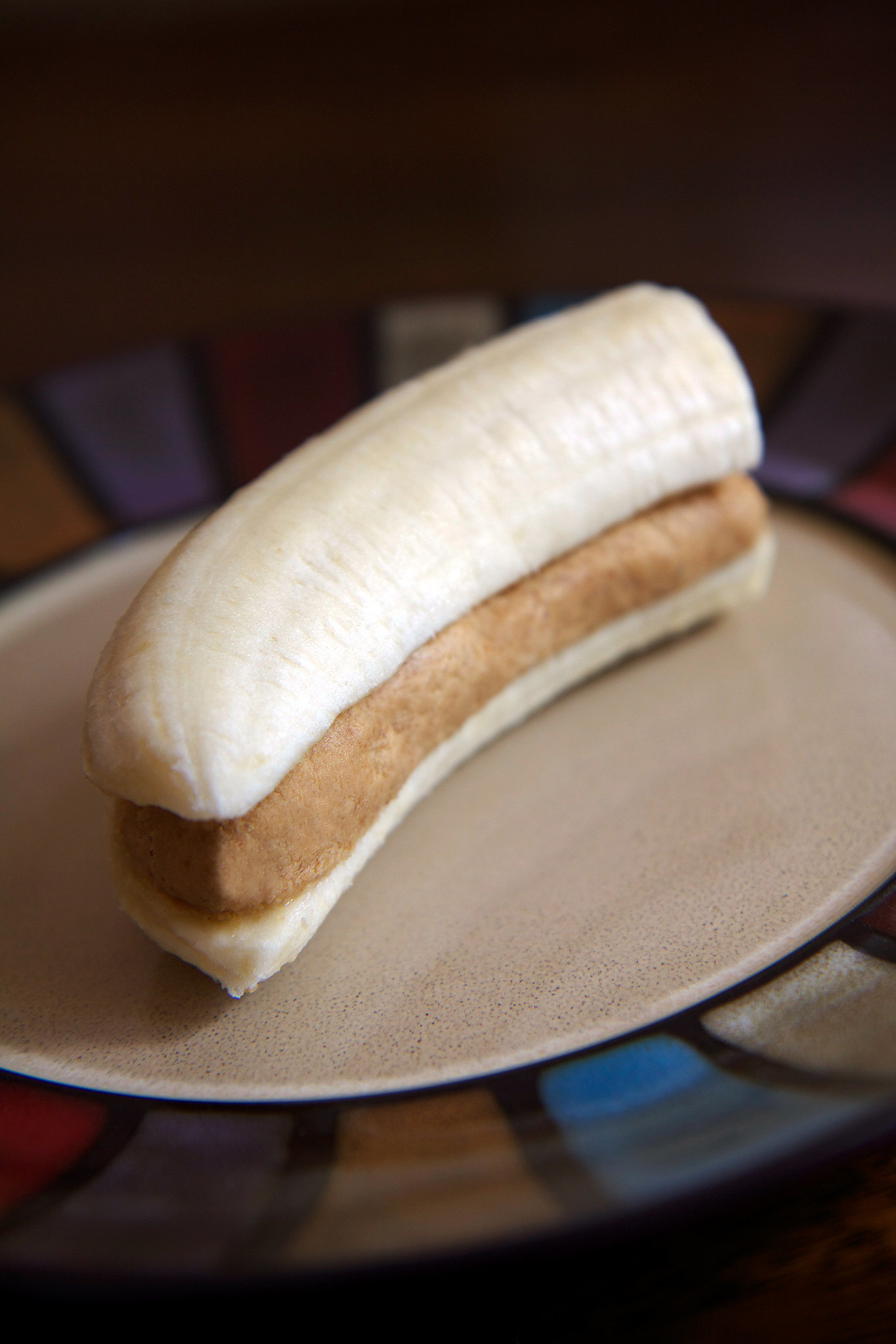 High protein banana peanut butter snack popsugar fitness for 1 table spoon of butter