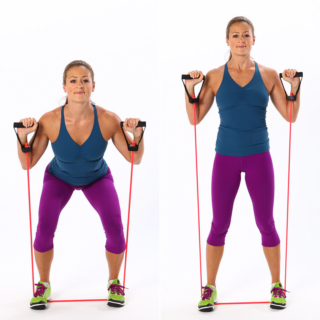 What are some resistance band exercises?