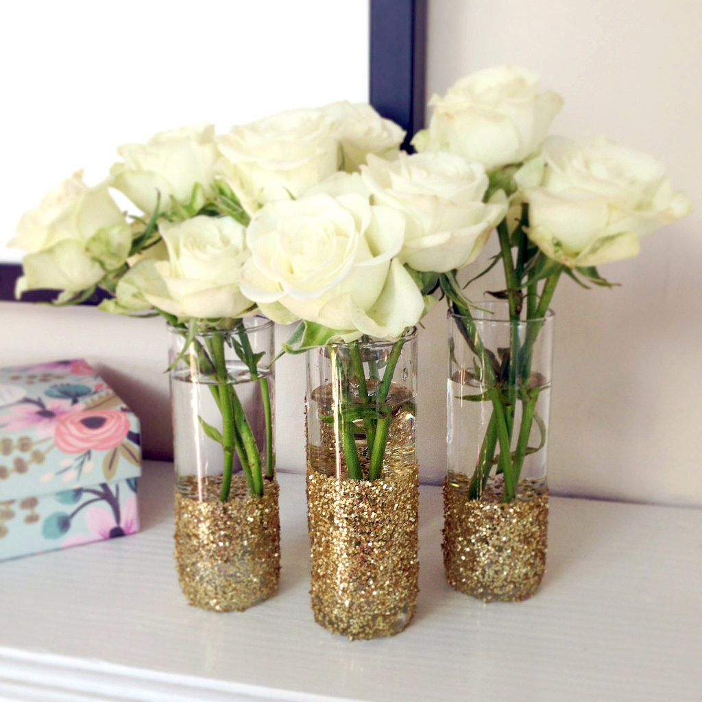 Diy glitter shot glass vases popsugar smart living solutioingenieria Choice Image