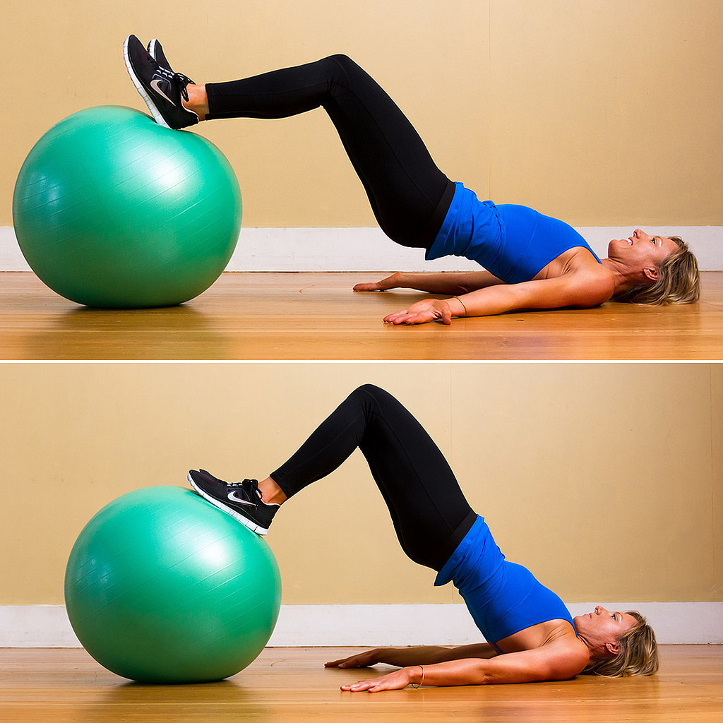 Butt Exercises For Exercise Ball | POPSUGAR Fitness