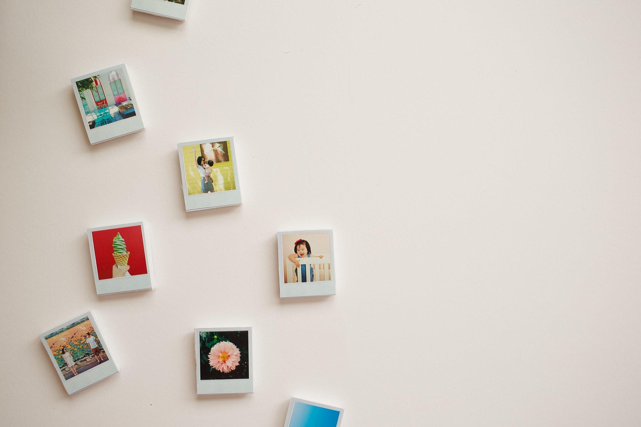 Mini Polaroid Magnets | Stunningly Easy Homemade Stocking Stuffer Ideas