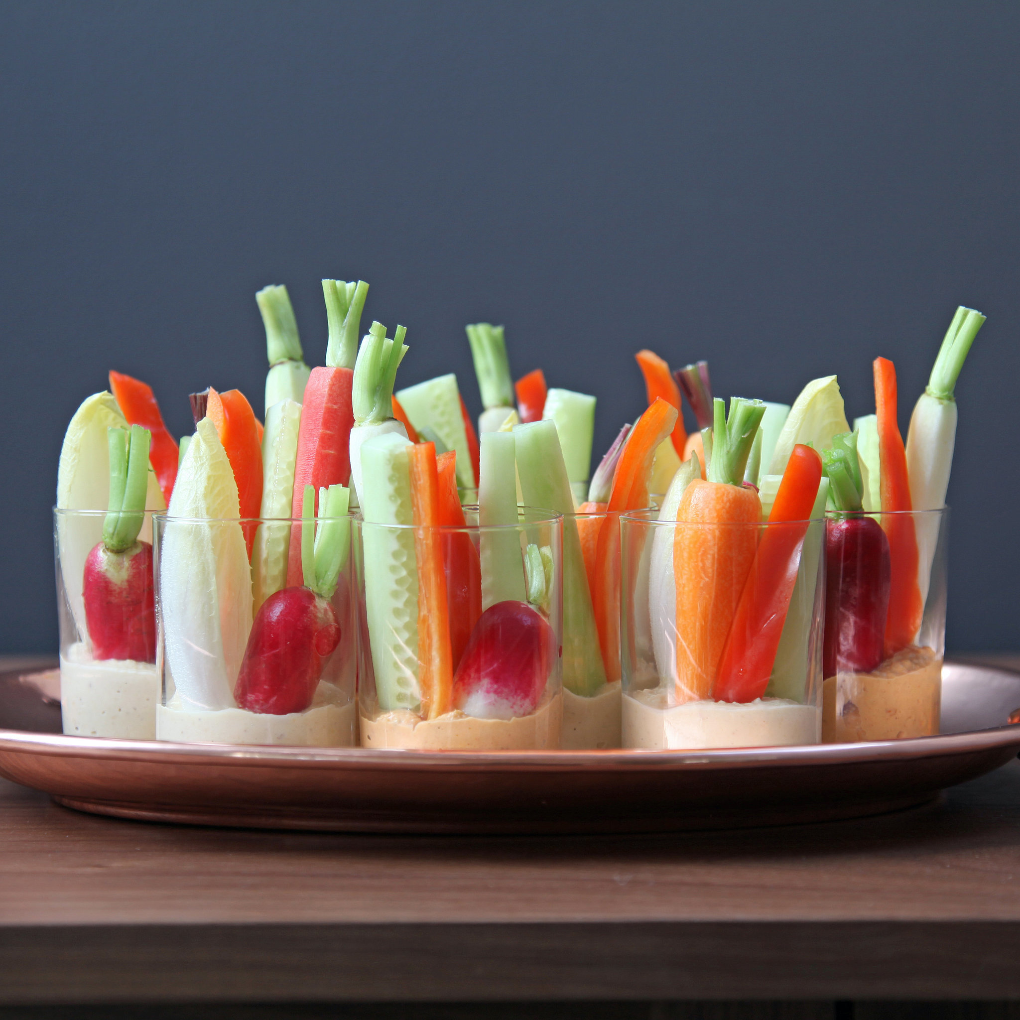 Christmas Decor Images Individual Hummus And Crudites Appetizers Popsugar Food