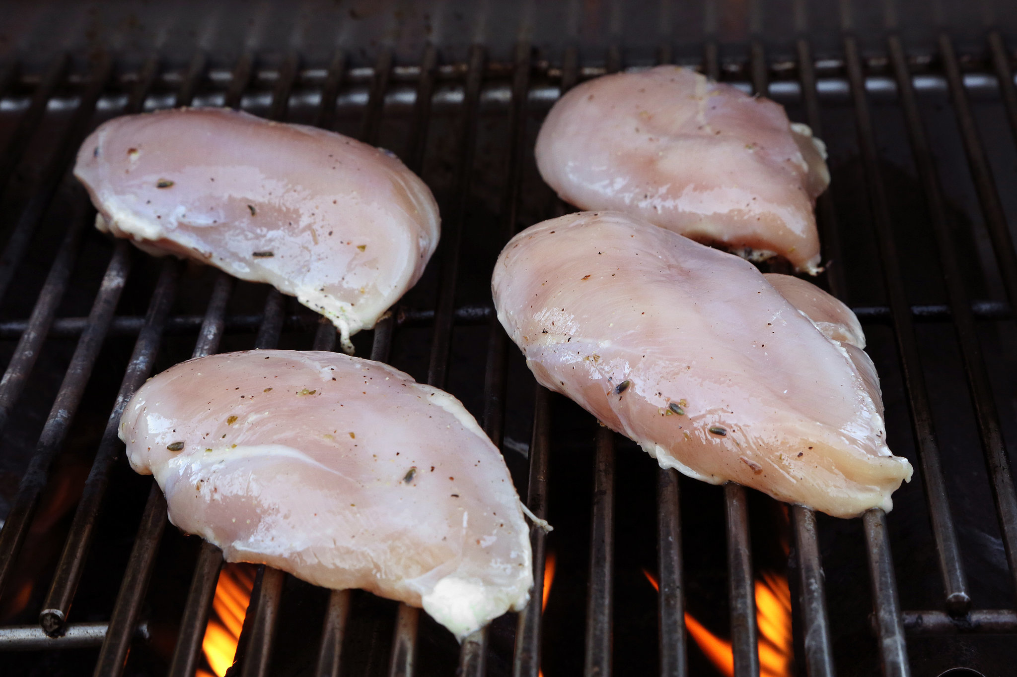 If you prefer to grill skin-on, bone-in chicken breasts, up the grill ...