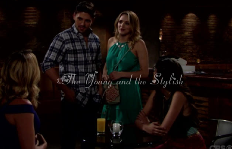 summer newman green dress the young and the restless