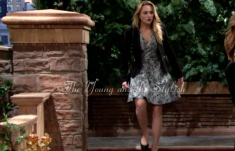 summer newman black and white animal print dress the young and the restless