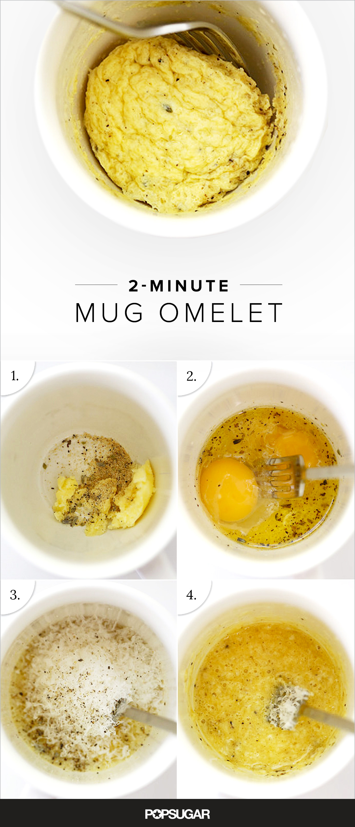 Easy Microwaveable Egg Omelet Popsugar Food