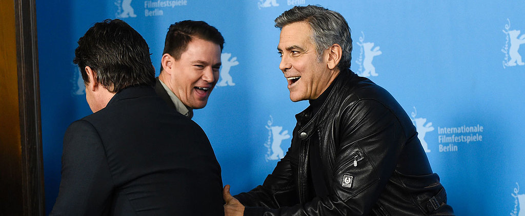 The Cast of Hail, Caesar! Can Do Nothing but Laugh at George Clooney's Red Carpet Antics