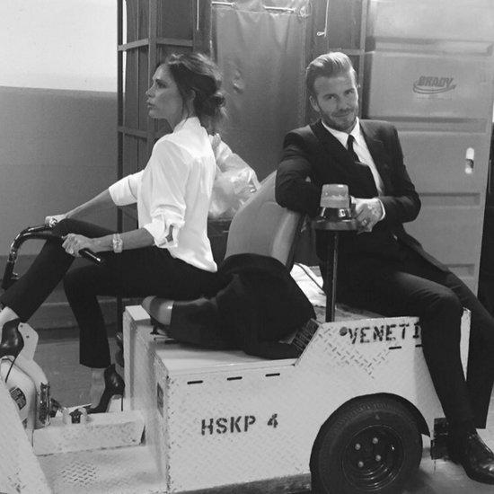 Victoria and David Beckham Wearing Matching Suits 2016
