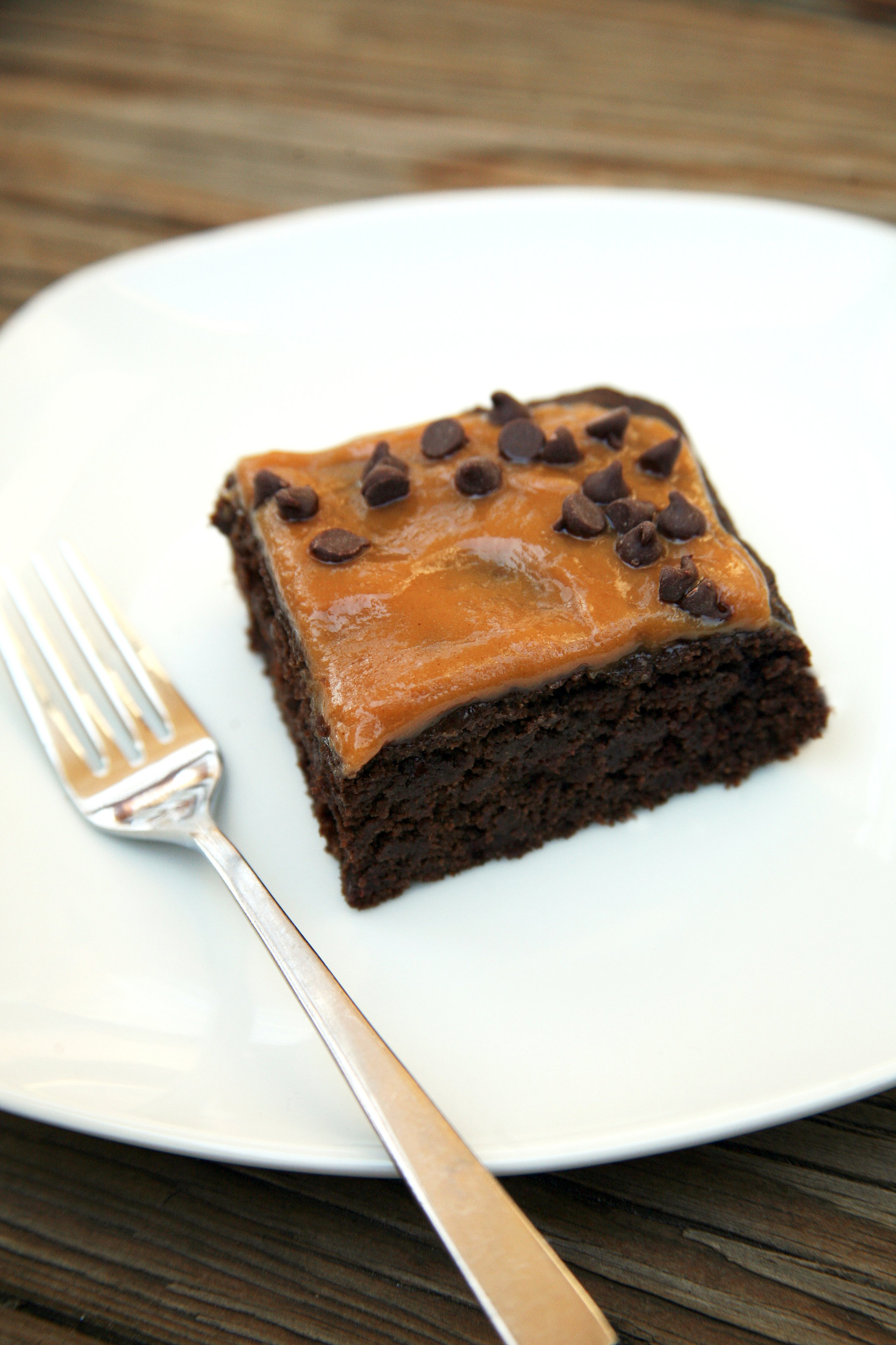 Chocolate (Cauliflower) Cake With Peanut Butter Frosting