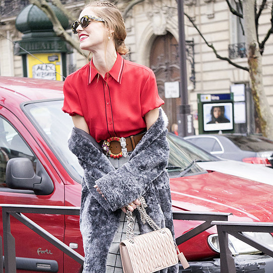 How to Wear Your Coat Off the Shoulder