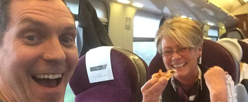 The Epic Twitter Story Behind This Guy Who Got Pizza Delivered to His Train