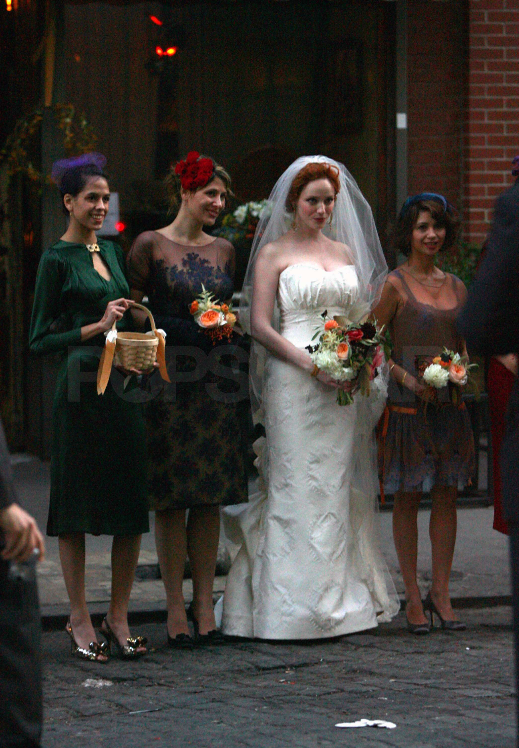 Of christina hendricks and geoffrey arend s celebrity wedding in nyc