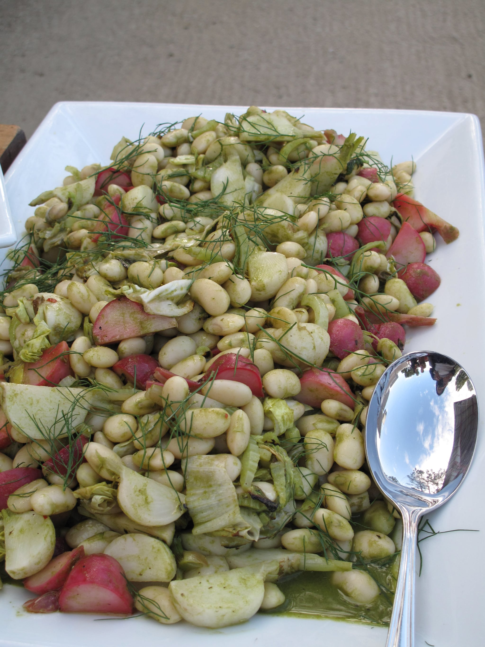 White beans with dill were the perfect accompaniment to the sunny cocktails.