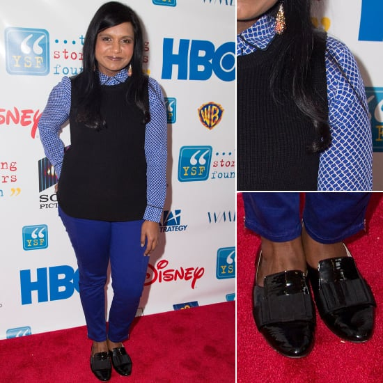 Mindy Kaling In Blue Outfit
