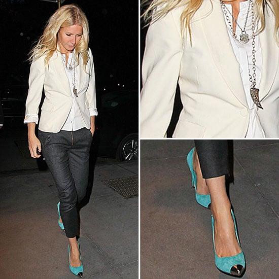 Gwyneth Paltrow White Blazer April 2012