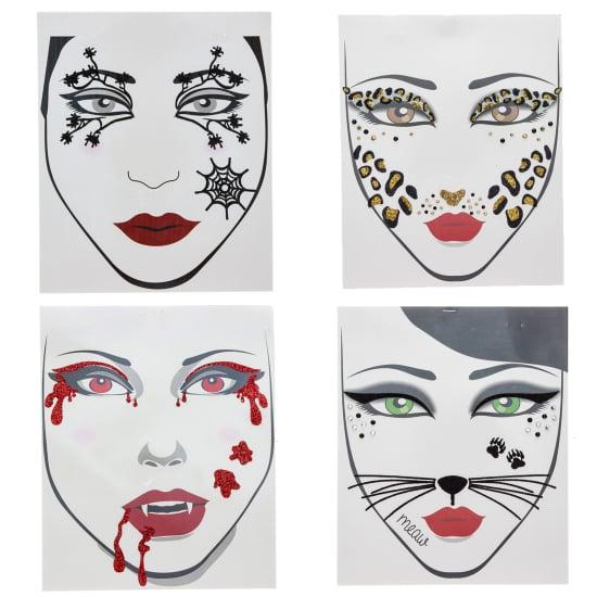 temporary face tattoos for easy halloween costume ideas popsugar beauty uk. Black Bedroom Furniture Sets. Home Design Ideas