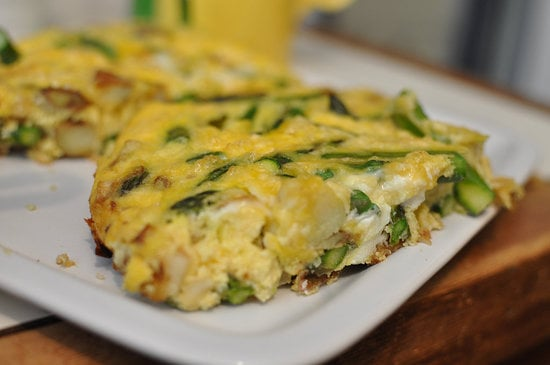 Recipe For Asparagus, Cheese, and Potato Frittata | POPSUGAR Fitness UK