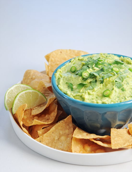 PopsugarLivingRecipesBasic GuacamoleThe 1 Guacamole Recipe You Should Commit to MemoryMay 4, 2018 by Katie Sweeney571 SharesIn the dip world, there is nothing quite as essential as guacamole. The creamy dip consists of perfectly ripe mashed avocado seasoned with salt. While there are hundreds of recipes, it's nice to have a simple one to start with. Once you've mastered the technique, it's easy to get creative with lots of variations. You can experiment with different types of onion, substitute lemon or orange juice for the lime juice, and change the texture by blitzing in a food processor.Basic GuacamoleFrom POPSUGAR FoodIngredients4 medium ripe avocados2 cloves garlic, minced1 teaspoon kosher salt2 tablespoons finely chopped cilantro, plus extra for garnish3-4 scallions (white and light green parts), mincedFreshly squeezed juice from 1 lime1 jalapeño, stem removed and minced, plus extra for garnish (optional)DirectionsCut the avocados in half, running your knife around the pit from stem to blossom end and - 웹