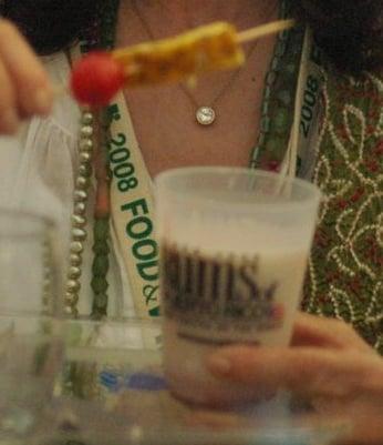 The piña coladas were garnishd with a pineapple spear.