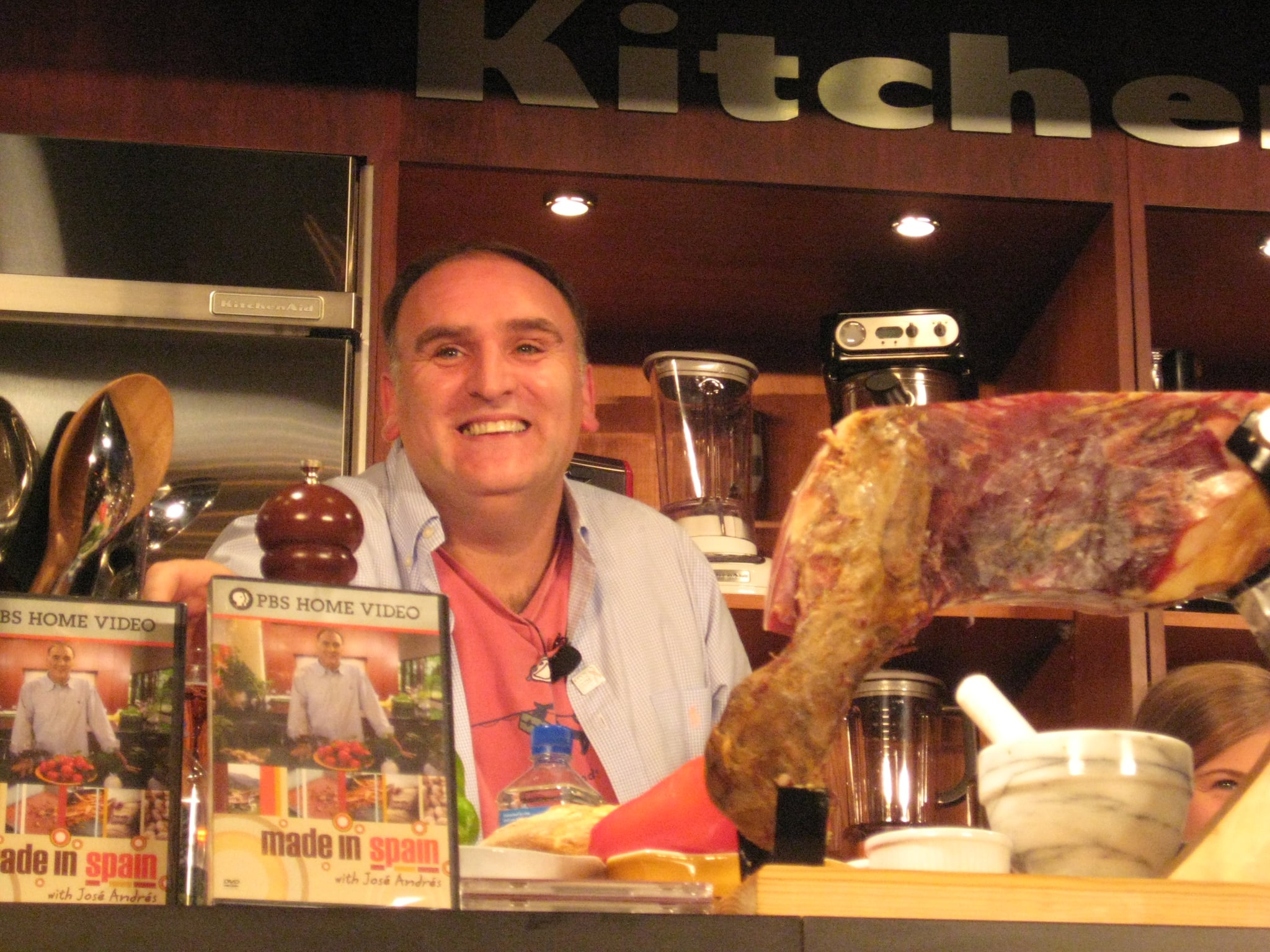 Jose Andres was impressed by my knowledge of Spanish cuisine!