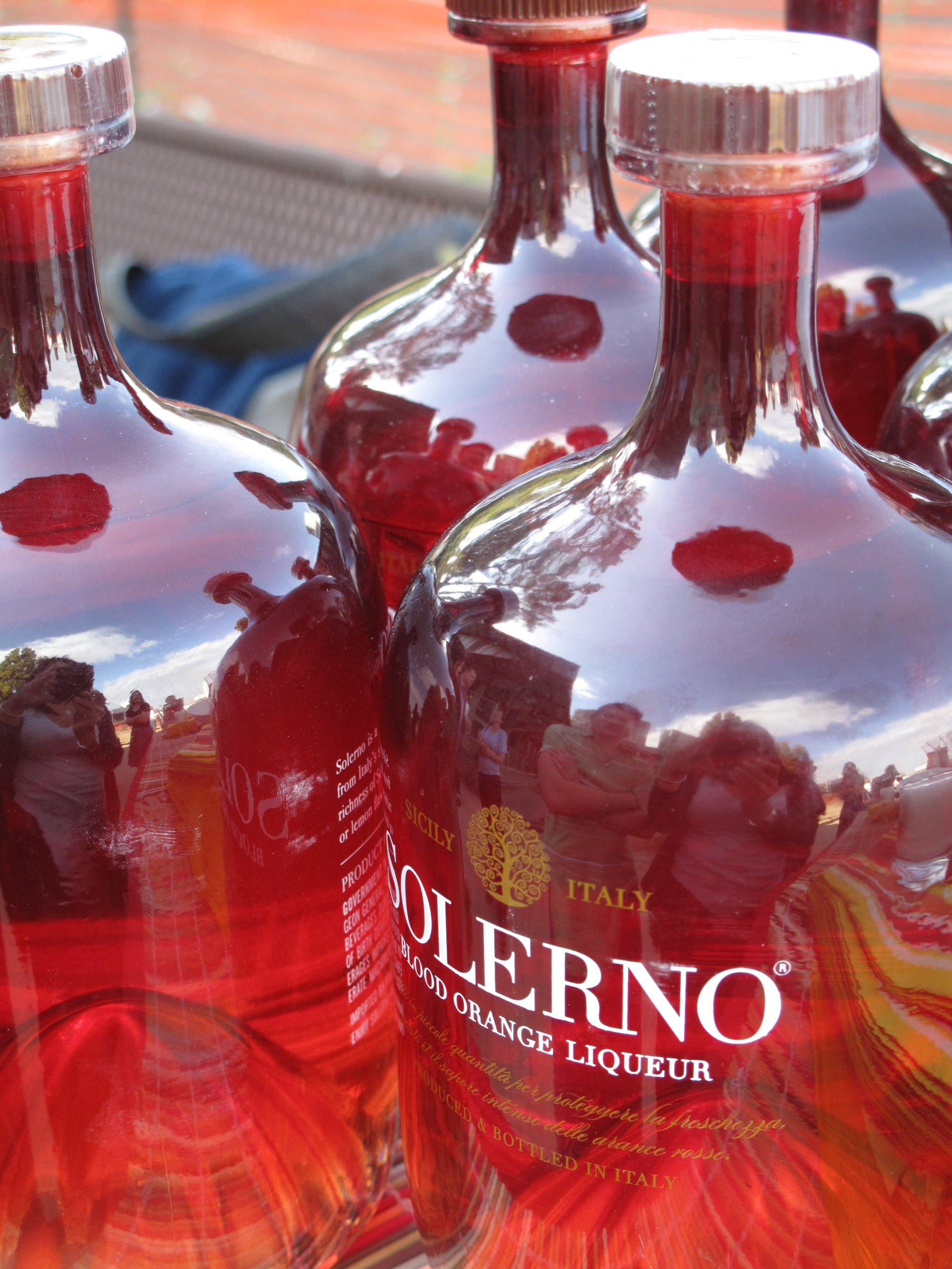 Solerno bottles are glass-blown according to traditions followed by artisans in Murano, Italy.