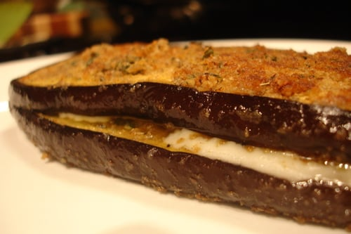Eggplant Grilled Cheese Sandwich