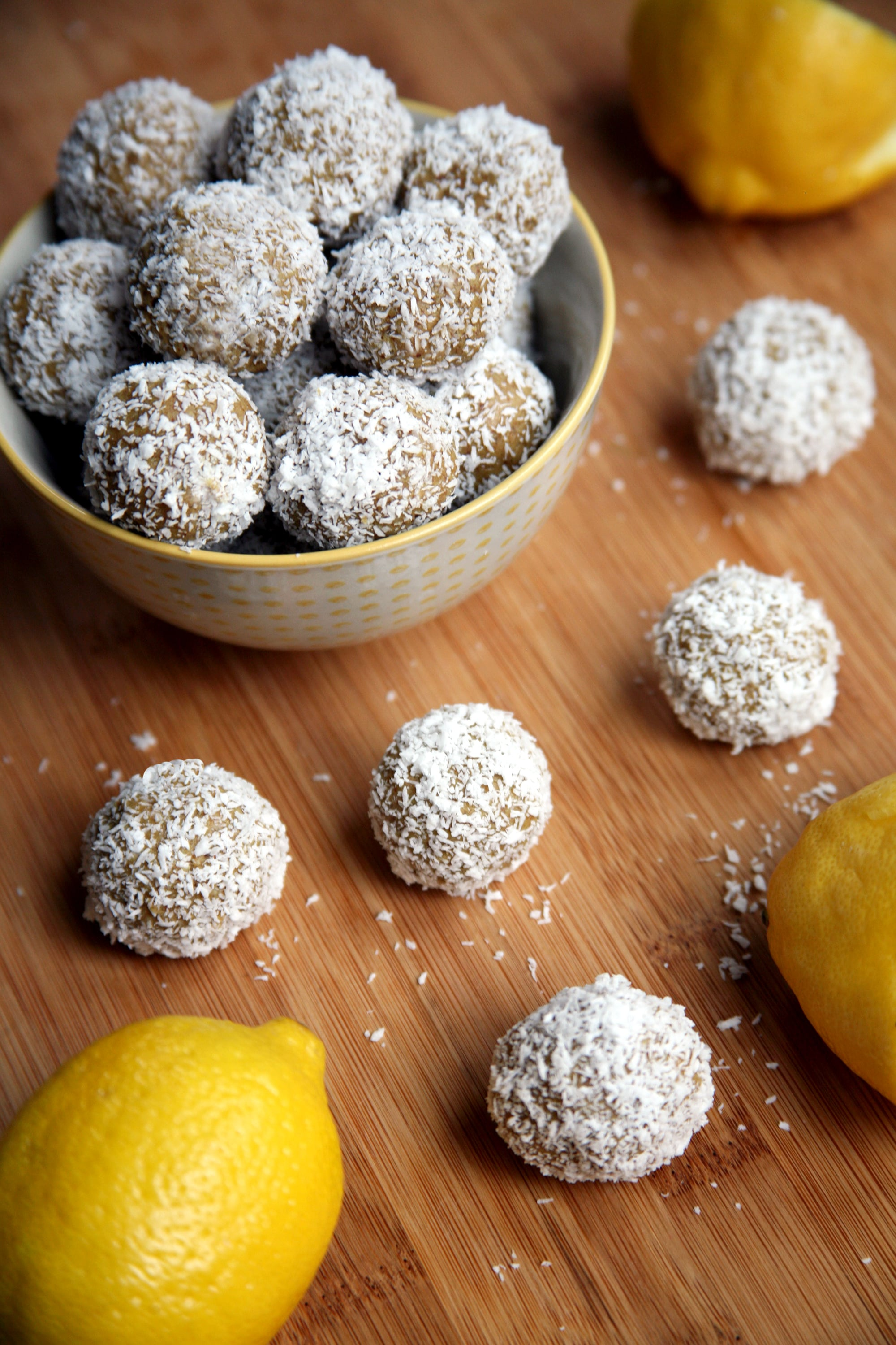 Satisfy Sweet Cravings With These 50-Calorie Lemon Coconut Balls