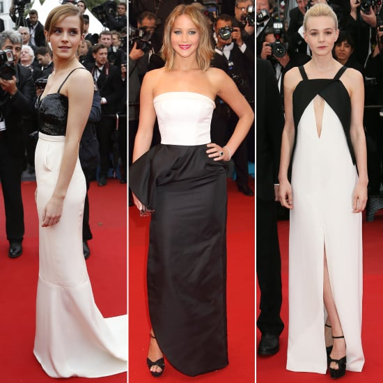 Cannes black and white red carpet dresses popsugar fashion - Black and white red carpet dresses ...