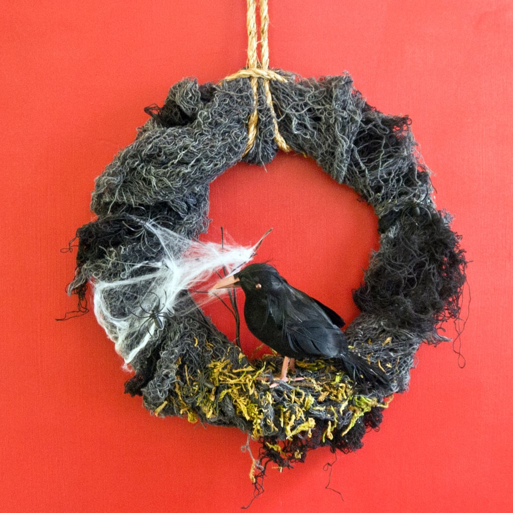 DIY Halloween Nevermore Wreath