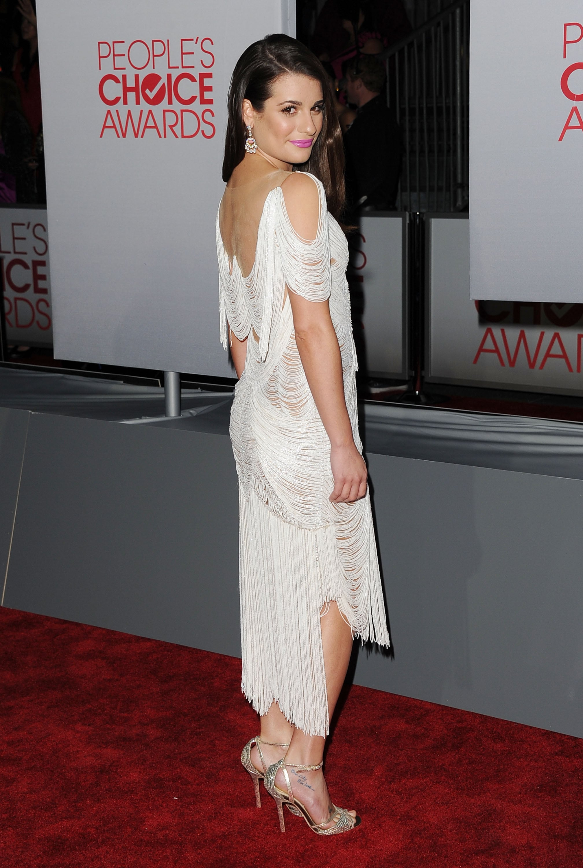 Lea Michele was white hot on the red carpet.